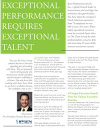 Executive Search Ipsen Client Profile